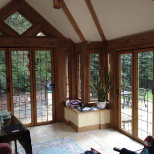 timber bifold door hockley essex