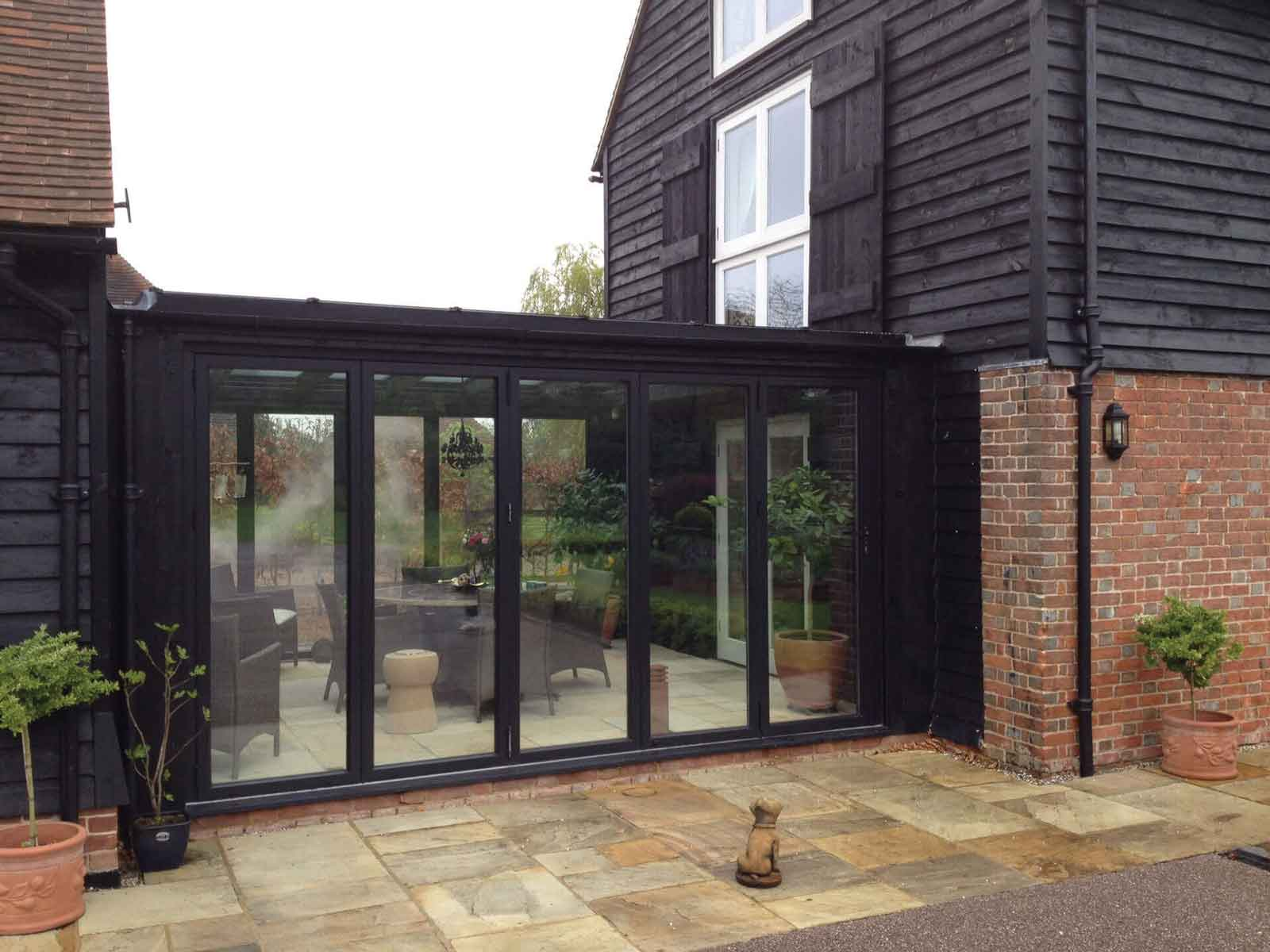 double glazed aluminium bifold doors hockley essex