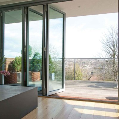 aluminium bifolding double glazed doors hockley essex