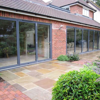 aluminium double glazed bifold doors hockley essex